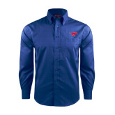Red House French Blue Long Sleeve Shirt-Official Outlined Logo