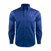 Red House French Blue Long Sleeve Shirt-Block SMU
