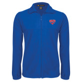 Fleece Full Zip Royal Jacket-SMU w/Mustang
