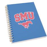 Clear 7 x 10 Spiral Journal Notebook-SMU w/Mustang