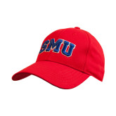 Red Heavyweight Twill Pro Style Hat-Block SMU