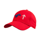 Red Heavyweight Twill Pro Style Hat-Pony Up