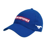 Royal Twill Unstructured Low Profile Hat-2017 AAC Regular Season Champions Mens Basketball Flat