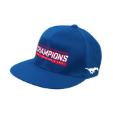 Royal OttoFlex Flat Bill Pro Style Hat-American Athletic Conference Champions - Mens Basketball 2017