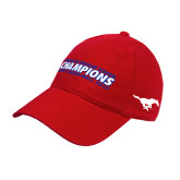 Red Twill Unstructured Low Profile Hat-2017 AAC Regular Season Champions Mens Basketball Flat