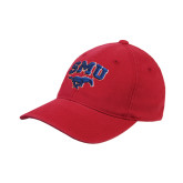 Red OttoFlex Unstructured Low Profile Hat-SMU w/Mustang