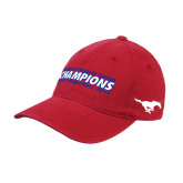 Red OttoFlex Unstructured Low Profile Hat-2017 AAC Regular Season Champions Mens Basketball Flat