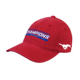 Red OttoFlex Unstructured Low Profile Hat-American Athletic Conference Champions - Mens Basketball 2017