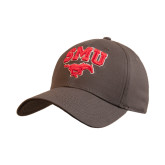 Charcoal Heavyweight Twill Pro Style Hat-SMU w/Mustang