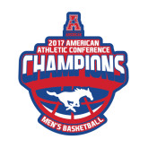 Medium Magnet-2017 AAC Conference Champions - Mens Basketball Arched Shadow, 8 in tall