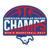 Large Magnet-2017 AAC Regular Season Champs - Mens Basketball Half Ball, 12 in tall
