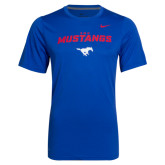 Royal NIKE Dri-Fit Legend Short Sleeve Tee-