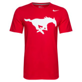 Red Nike Core Cotton Short Sleeve Tee-