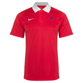 Nike Red/white Elite Coaches Polo-