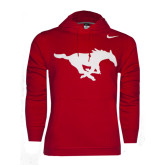 Red Nike Stadium Club Fleece Hoody-