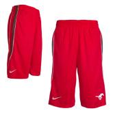 Red NIKE Fadeaway Shorts-
