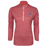 Red NIKE Heather Element Training Top-