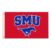 3 ft x 5 ft Flag-SMU w/Mustang