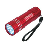 Industrial Triple LED Red Flashlight-Block SMU Engraved