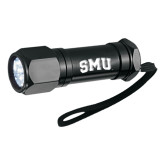 Workmate 8 LED Aluminum Superbright Black Flashlight-Block SMU Engraved