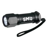 Workmate 8 LED Aluminum Superbright Black Flashlight-Block SMU Engraved