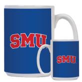 Full Color White Mug 15oz-Block SMU