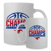 Full Color White Mug 15oz-2017 AAC Regular Season Champs - Mens Basketball Half Ball