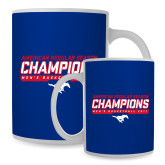 Full Color White Mug 15oz-2017 AAC Regular Season Champions - Mens Basketball Stencil