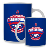 Full Color White Mug 15oz-2017 AAC Conference Champions - Mens Basketball Arched Shadow