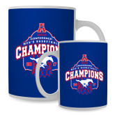 Full Color White Mug 15oz-2017 AAC Conference Champions - Mens Basketball Arched Net