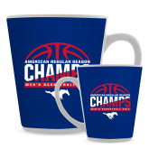 12oz Ceramic Latte Mug-2017 AAC Regular Season Champs - Mens Basketball Half Ball