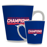 Full Color Latte Mug 12oz-2017 AAC Regular Season Champions - Mens Basketball Stencil