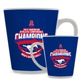 Full Color Latte Mug 12oz-2017 AAC Conference Champions - Mens Basketball Arched Shadow