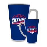 Full Color Latte Mug 17oz-2017 AAC Regular Season Champs - Mens Basketball Half Ball