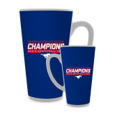 Full Color Latte Mug 17oz-2017 AAC Regular Season Champions - Mens Basketball Stencil