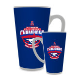 Full Color Latte Mug 17oz-2017 AAC Conference Champions - Mens Basketball Arched Shadow