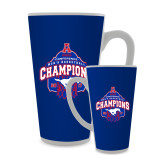 Full Color Latte Mug 17oz-2017 AAC Conference Champions - Mens Basketball Arched Net