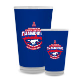 Full Color Glass 17oz-2017 AAC Conference Champions - Mens Basketball Arched Shadow