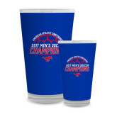 Full Color Glass 17oz-2017 Mens Soccer Champions
