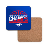 Hardboard Coaster w/Cork Backing-2017 AAC Regular Season Champs - Mens Basketball Half Ball
