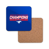 Hardboard Coaster w/Cork Backing-2017 AAC Regular Season Champions - Mens Basketball Stencil