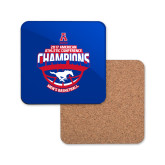 Hardboard Coaster w/Cork Backing-2017 AAC Conference Champions - Mens Basketball Arched Shadow
