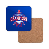 Hardboard Coaster w/Cork Backing-2017 AAC Conference Champions - Mens Basketball Arched Net