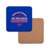 Hardboard Coaster w/Cork Backing-2017 Mens Soccer Champions
