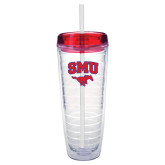 Tritan Double Wall Tumbler w/Red Top 26oz-SMU w/Mustang