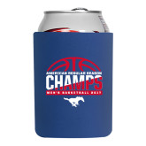 Collapsible Royal Can Holder-2017 AAC Regular Season Champs - Mens Basketball Half Ball