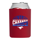 Neoprene Red Can Holder-2017 AAC Regular Season Champs - Mens Basketball Half Ball