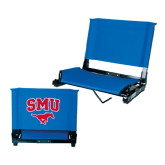 Stadium Chair Royal-SMU w/Mustang