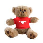 Plush Big Paw 8 1/2 inch Brown Bear w/Red Shirt-Official Logo