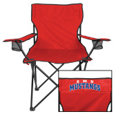 Deluxe Red Captains Chair-Arched SMU Mustangs
